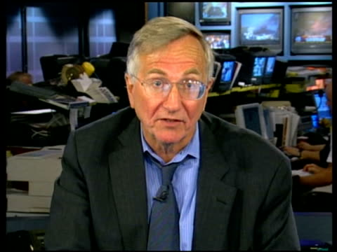 washington: int seymour hersh interview sot - there was a meeting at which rumsfeld and condoleezza rice attended, rice asked him to take care of it... - bagram stock-videos und b-roll-filmmaterial