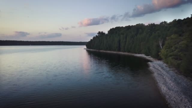 washington island / door county / wisconsin / washington harbor - lago michigan video stock e b–roll