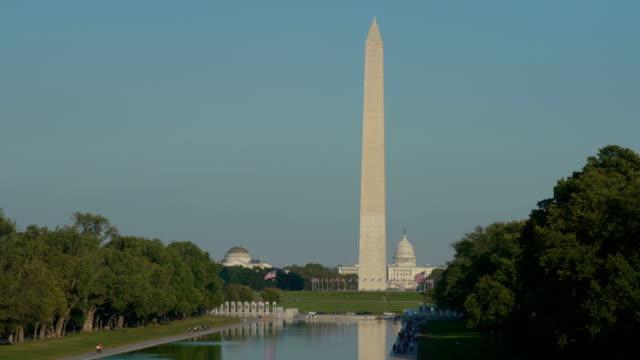 Washington Monument and Lincoln Memorial Reflecting Pool, Washington D.C, USA