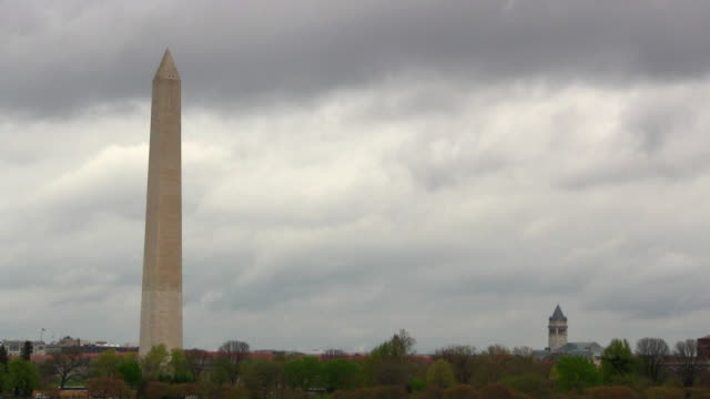washington monument and post office tower - post office stock videos and b-roll footage