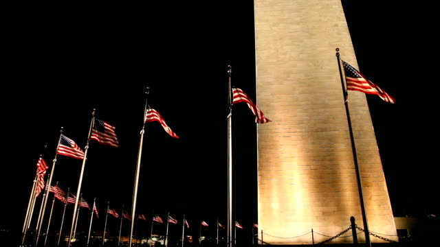 Washington Monument bei Nacht