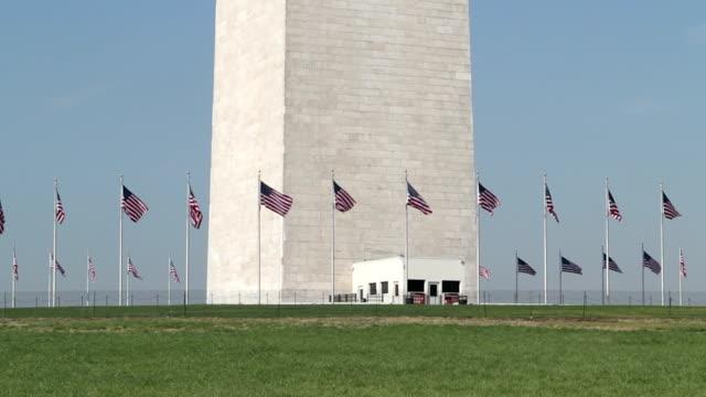 washington monument at the mall tilt close up - washington monument stock videos & royalty-free footage