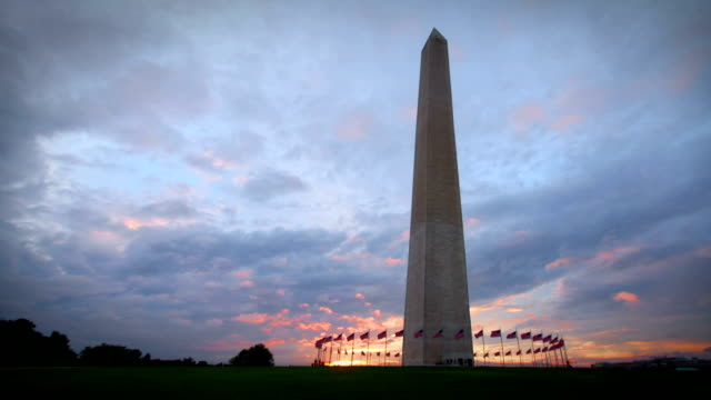 monumento di washington - governo video stock e b–roll