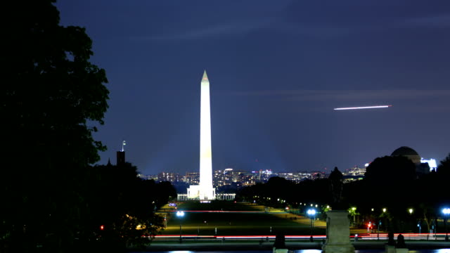 washington monument - jefferson memorial stock videos and b-roll footage