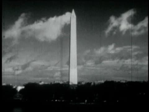 1946 ws washington monument / washington d.c., united states - the mall washington dc stock videos & royalty-free footage