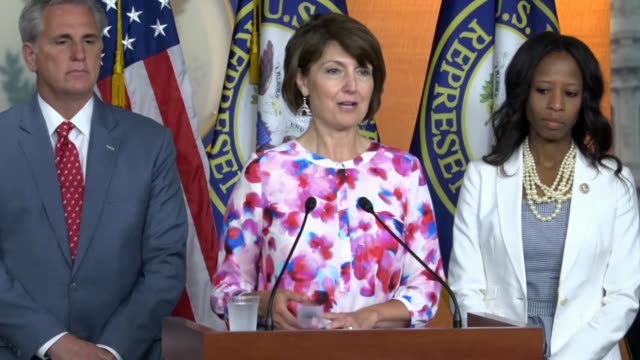 Washington state Congresswoman Cathy McMorris Rodgers tells reporters at a weekly briefing that the Republicans will continue to work for a better...