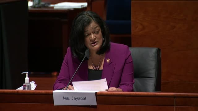 washington state congresswoman pramila jayapal asks attorney general william barr at a house judiciary committee oversight hearing if you are aware... - michigan stock videos & royalty-free footage