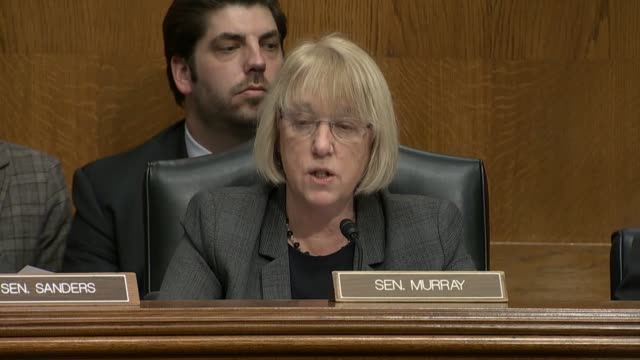 washington state senator patty murray expresses concern with holding a nomination hearing with betsy devos to become the next education secretary... - nomination stock videos & royalty-free footage