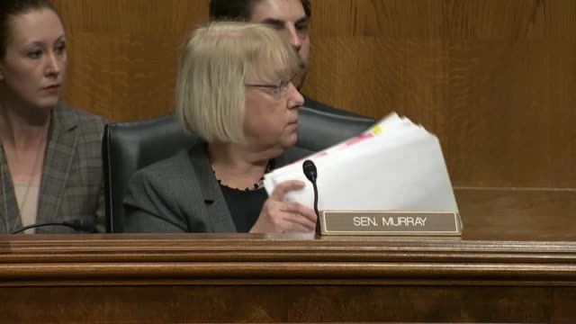 washington state senator patty murray tells senate health education labor and pensions committee chairman lamar alexander that education secretary... - nomination stock videos & royalty-free footage