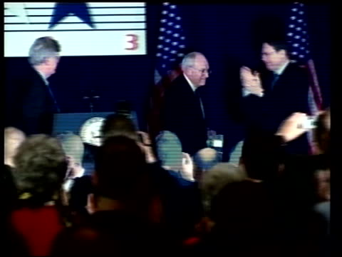washington: us vice-president, dick cheney, leaving stage following speech conservative political action conference dick cheney speech sot - his... - weapons of mass destruction stock videos & royalty-free footage