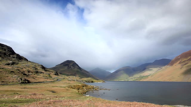 wast water in the lake district national park. - northwest england stock videos and b-roll footage