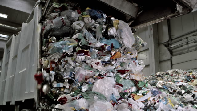 waste falling from the garbage truck - garbage stock videos & royalty-free footage