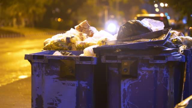 vidéos et rushes de déchets de la ville - plein
