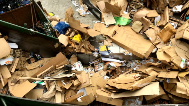 waste management on a dumpsite - waste management stock videos and b-roll footage