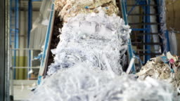 Waste paper recycling mill