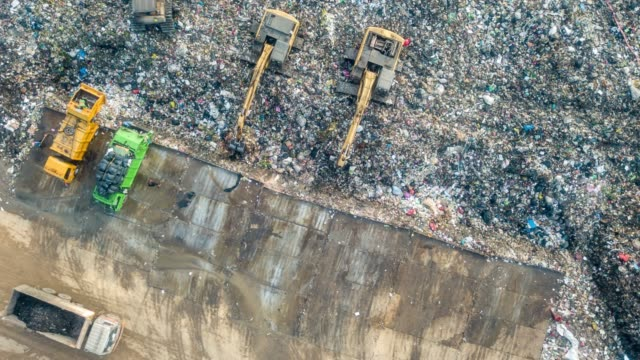 waste pollution operation - rubbish dump stock videos & royalty-free footage