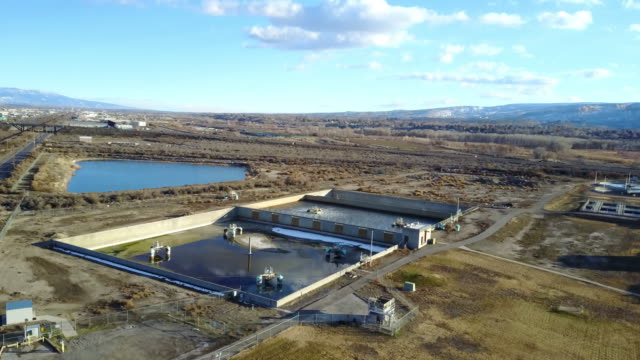 waste water treatment sewer plant - water purification stock videos and b-roll footage