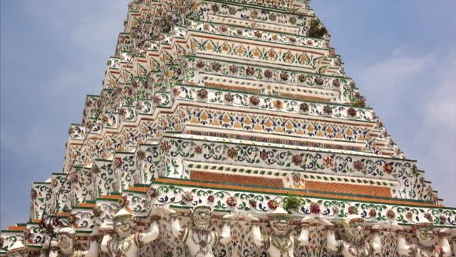 Wat Arun aka Temple of Dawn against sky in Bangkok, Thailand