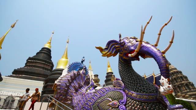 wat ban den or wat den sa li sri mueang kaen temple in chiang mai thailand - king of thailand stock videos and b-roll footage