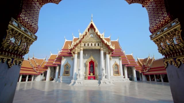wat benchamabophit dusitvanaram - temple building stock videos & royalty-free footage