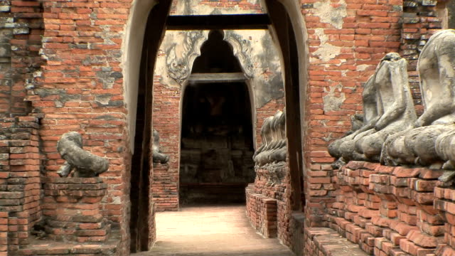 ws zo wat chaiwattanaramin, ayutthaya, thailand - アユタヤ県点の映像素材/bロール