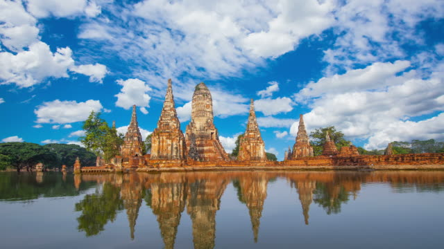 wat chaiwatthanaram, ancient temples of ayutthaya - cambodia stock videos and b-roll footage