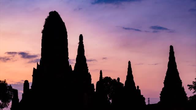 Wat chaiwatthanaram with sunset to twilight