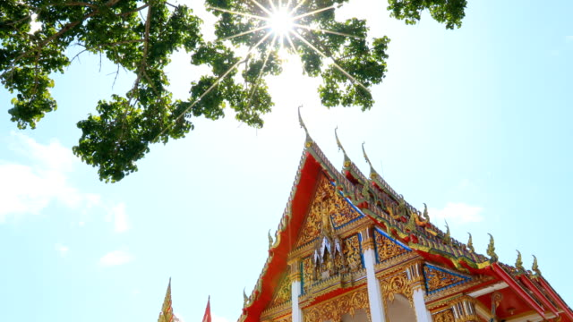 wat chalong a popular tourist destination at phuket thailand, 4k. - phuket stock videos & royalty-free footage