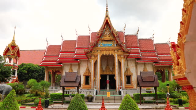 wat chalong is the most important temple of phuket, thailand. - shrine stock videos & royalty-free footage