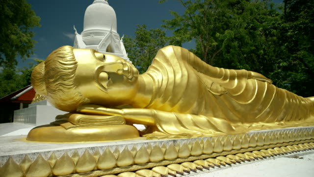 wat khan chedi statue - buddha stock videos and b-roll footage