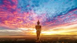 Wat Khao Noi at sunrise, Nan Thailand
