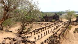 Wat Phou Hindu temple in Champasak, Southern Laos