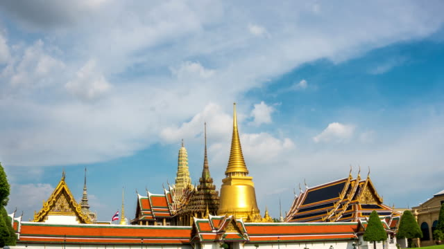 TD TL WS of Wat Phra Kaew Temple famous place in Bangkok, Thailand