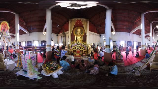 wat phra sing temple a buddhist temple inside the old city walls of chiang mai thailand - chiang mai city stock videos and b-roll footage