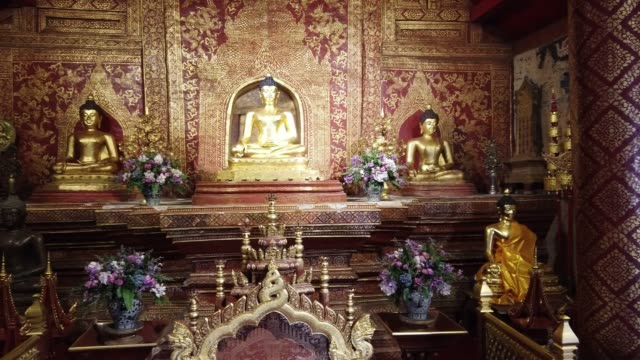 wat phra singh temple in chang mai, thailand - buddhism stock videos & royalty-free footage