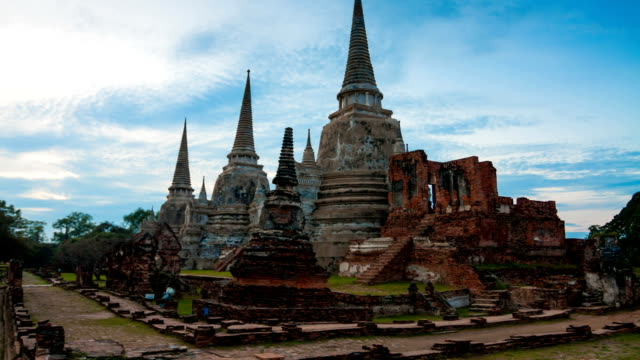 wat phra sri sanpetch, the historical temple - ayuthaya province stock videos and b-roll footage