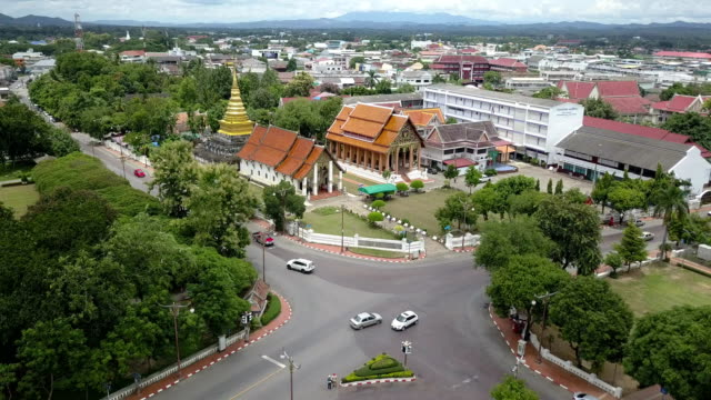 Wat Phra That Chang Kham is landmark in Nan, Thailand