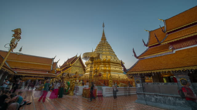 wat phrathat doi suthep temple time lapse - chiang mai province stock videos & royalty-free footage
