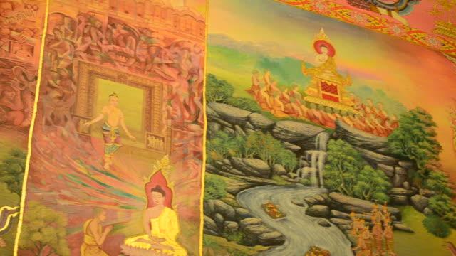 ワット protichai の壁画 - 社会史点の映像素材/bロール