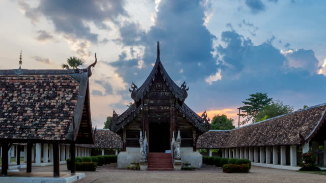 Wat Ton Kain, Old wooden temple in Chiang Mai Thailand