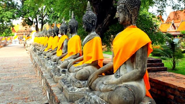 Wat Yai Chaimongkol estatuas de Buda tailandés