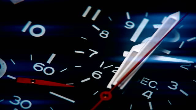 watch clock counting and time passes - clockworks stock videos & royalty-free footage