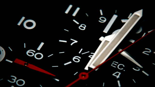 watch clock counting and time passes - stop watch stock videos & royalty-free footage