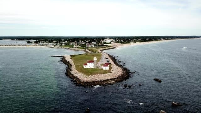 vidéos et rushes de watch hill lighthouse - rhode island