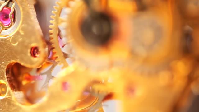 ecu focusing, watch mechanisms - clockworks stock videos & royalty-free footage