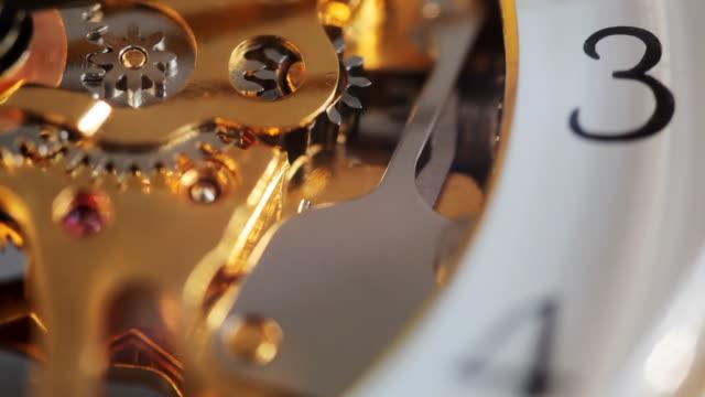 ecu selective focus watch mechanisms - clockworks stock videos & royalty-free footage