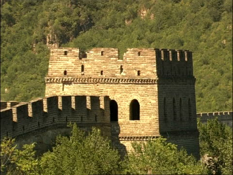 watch tower on great wall of china, mutianyu, china - mutianyu stock videos & royalty-free footage