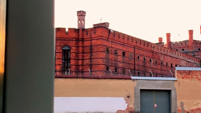watch towers in old city prison - poland stock videos and b-roll footage