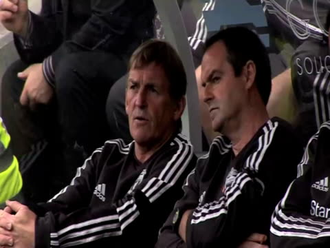 watches his team play Hull City in a preseason friendly in July 2011 Liverpool FC Manager Kenny Dalglish at Anfield on September 20 2011 in Liverpool...