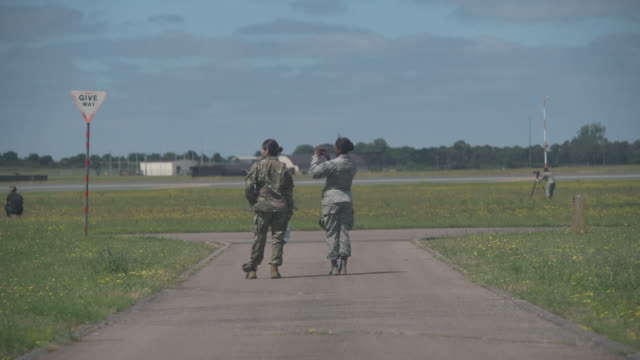watching a training exercise at raf lakenheath uk on monday june 27 2019 - army stock videos & royalty-free footage